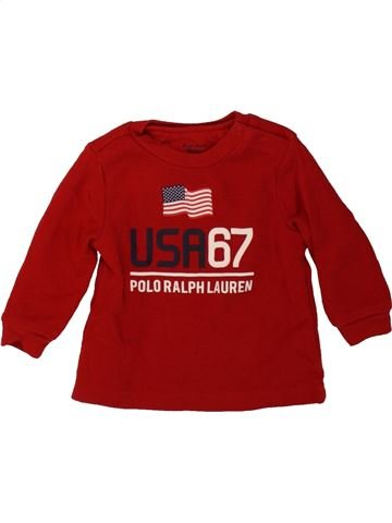 T-shirt manches longues garçon RALPH LAUREN rouge 6 mois hiver #1484972_1