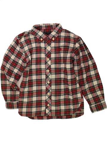 Chemise manches longues garçon FRED PERRY marron 6 ans hiver #1485097_1