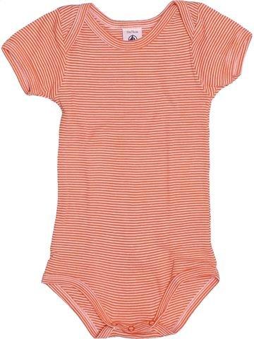 T-shirt manches courtes garçon PETIT BATEAU orange 12 mois été #1485278_1