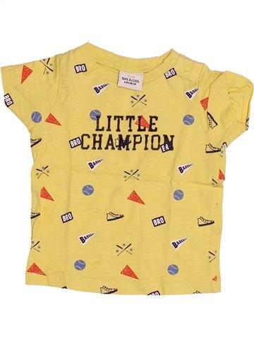 T-shirt manches courtes garçon TAPE À L'OEIL jaune 6 mois été #1485337_1