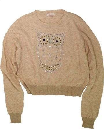 Pull fille KYLIE marron 12 ans hiver #1485350_1
