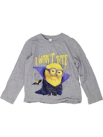 T-shirt manches longues garçon LES MINIONS gris 6 ans hiver #1485367_1