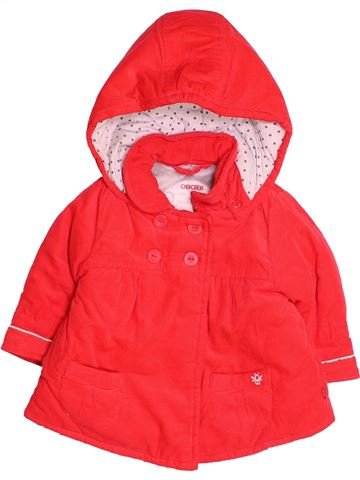 Manteau fille OKAIDI rouge 6 mois hiver #1485378_1