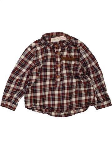Chemise manches longues garçon ZARA marron 18 mois hiver #1485593_1