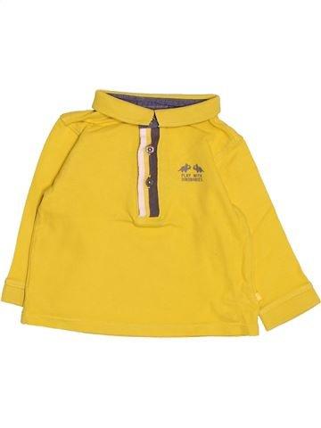 Polo manches longues garçon OKAIDI jaune 9 mois hiver #1485893_1