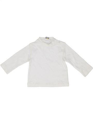 T-shirt manches longues garçon IDO blanc 6 mois hiver #1485923_1