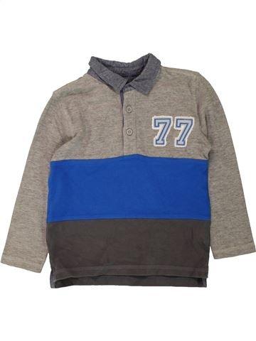 Polo de manga larga niño F&F azul 5 años invierno #1486100_1