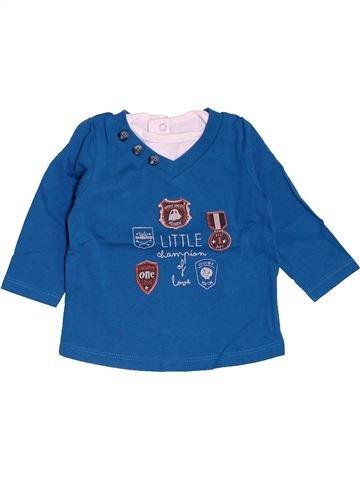 T-shirt manches longues garçon TAPE À L'OEIL bleu 6 mois hiver #1486309_1