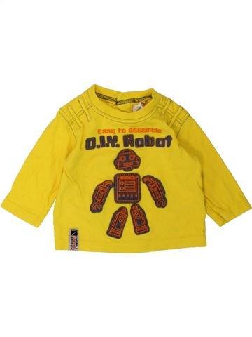 T-shirt manches longues garçon ADAMS jaune 6 mois hiver #1486313_1