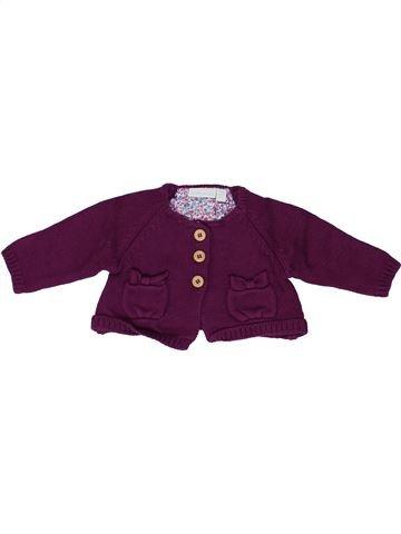 Gilet fille JOJO MAMAN BÉBÉ violet 3 mois hiver #1486437_1