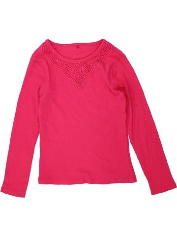 T-shirt manches longues fille GEORGE rouge 9 ans hiver #1486637_1