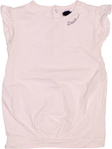 T-shirt manches courtes fille KIABI blanc 3 ans été #1486688_1