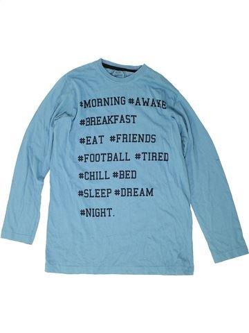 T-shirt manches longues garçon MATALAN bleu 13 ans hiver #1486869_1