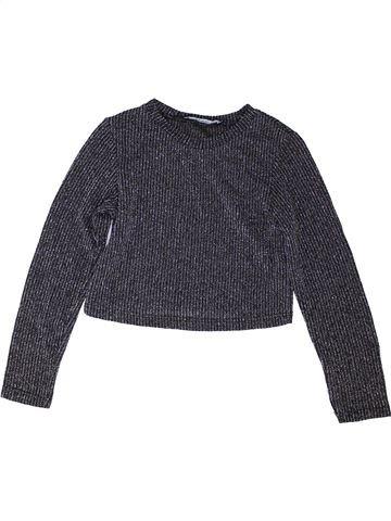 T-shirt manches longues fille GEORGE gris 7 ans hiver #1486878_1