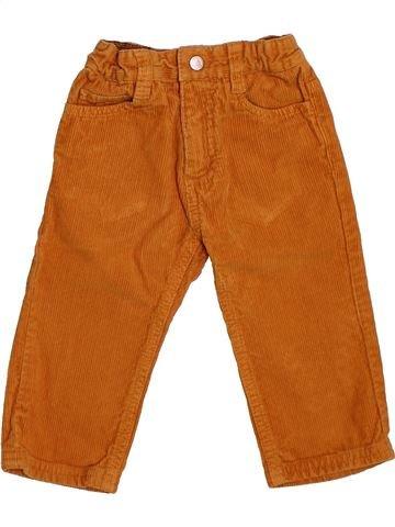 Pantalon garçon PETIT BATEAU marron 12 mois hiver #1486917_1