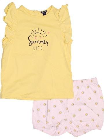 Pyjama 2 pièces fille KIABI beige 3 ans été #1487394_1