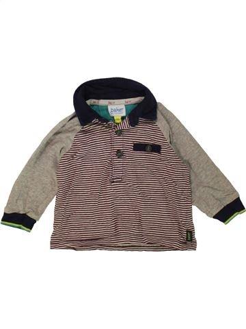 Polo manches longues garçon TED BAKER marron 6 mois hiver #1487421_1