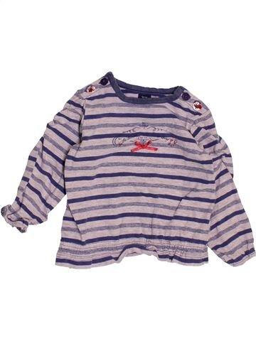 T-shirt manches longues fille TERRE DE MARINS violet 6 mois hiver #1487448_1