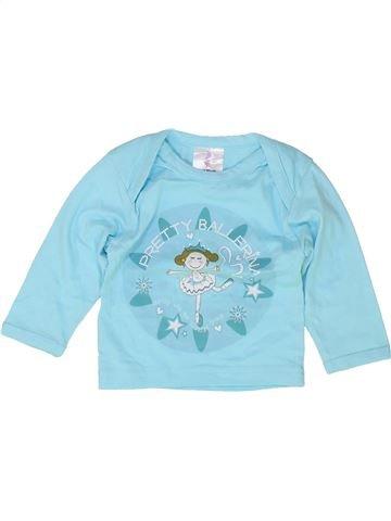 T-shirt manches longues fille SANS MARQUE bleu 9 mois hiver #1487478_1