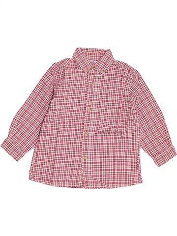 Chemise manches longues garçon OKAIDI rose 3 ans hiver #1487677_1