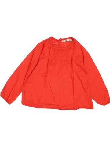 Blusa de manga corta niña CFK naranja 4 años invierno #1487715_1