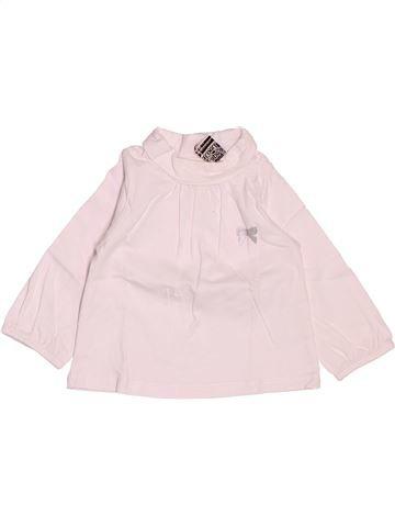 T-shirt col roulé fille TAPE À L'OEIL blanc 3 mois hiver #1487803_1