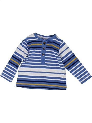 T-shirt manches longues garçon JASPER CONRAN bleu 9 mois hiver #1487884_1
