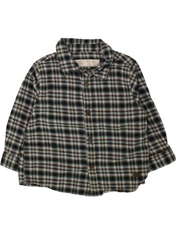 Chemise manches longues garçon ZARA gris 9 mois hiver #1488053_1