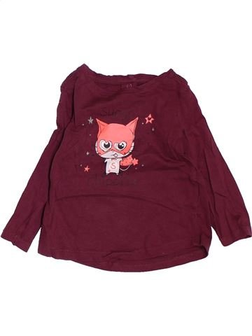 Camiseta de manga larga niña KIMBALOO violeta 12 meses invierno #1488207_1