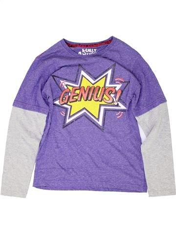 T-shirt manches longues garçon FLIPBACK violet 12 ans hiver #1488240_1