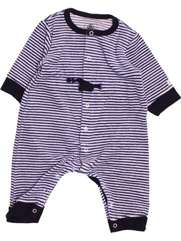 Pyjama 1 pièce garçon PETIT BATEAU blanc 3 mois hiver #1488411_1