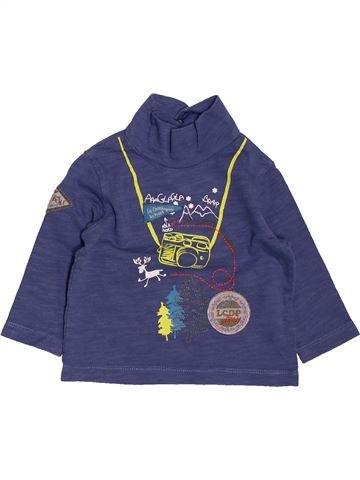 T-shirt col roulé garçon LA COMPAGNIE DES PETITS violet 6 mois hiver #1488478_1