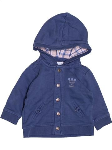 Sweat garçon OKAIDI bleu 6 mois hiver #1488490_1