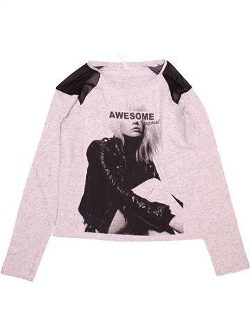T-shirt manches longues fille KAPORAL blanc 10 ans hiver #1488654_1