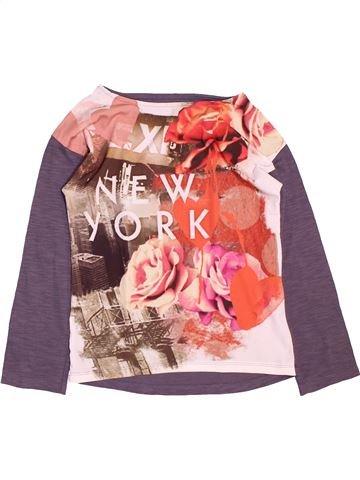 T-shirt manches longues fille ORCHESTRA violet 10 ans hiver #1488656_1