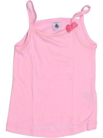 T-shirt sans manches fille PETIT BATEAU rose 6 ans été #1488855_1