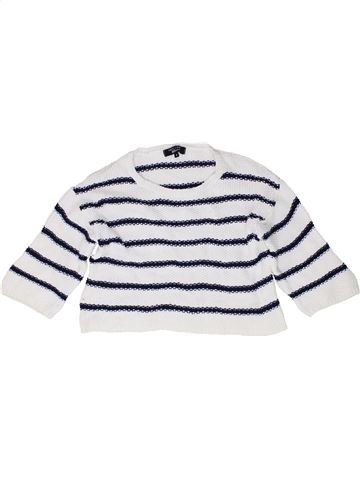 Pull fille NEW LOOK blanc 9 ans hiver #1488931_1