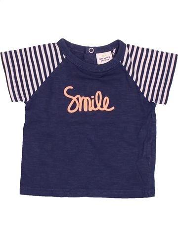 T-shirt manches courtes garçon TAPE À L'OEIL bleu 6 mois été #1488996_1