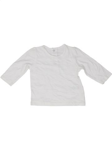 T-shirt manches longues fille MATALAN blanc 6 mois hiver #1489000_1
