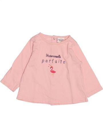 T-shirt manches longues fille TAPE À L'OEIL rose 6 mois hiver #1489044_1