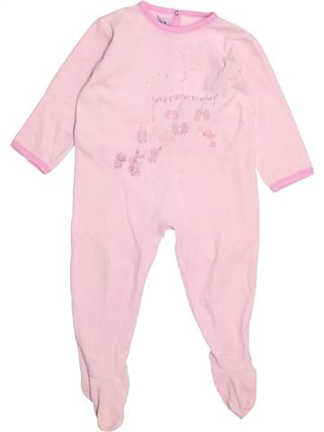 Pyjama 1 pièce fille PETIT BATEAU rose 2 ans hiver #1489136_1