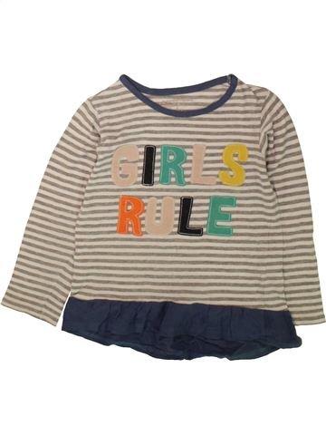 T-shirt manches longues fille PEP&CO gris 6 ans hiver #1489184_1