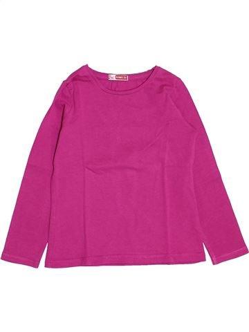 T-shirt manches longues fille DPAM violet 4 ans hiver #1489203_1