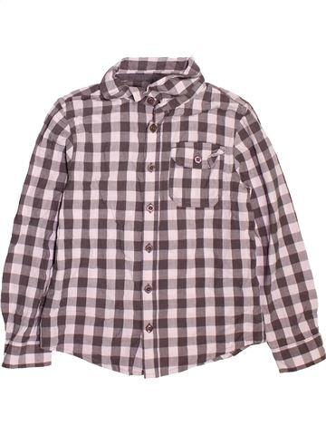 Chemise manches longues garçon F&F violet 7 ans hiver #1489600_1