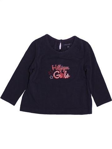 T-shirt manches longues fille TOMMY HILFIGER noir 18 mois hiver #1489966_1