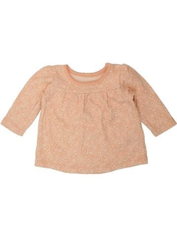 T-shirt manches longues fille GEORGE beige 3 mois hiver #1490315_1