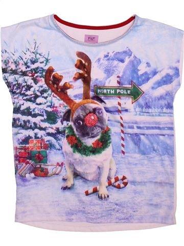 T-shirt manches courtes fille F&F gris 8 ans hiver #1490852_1