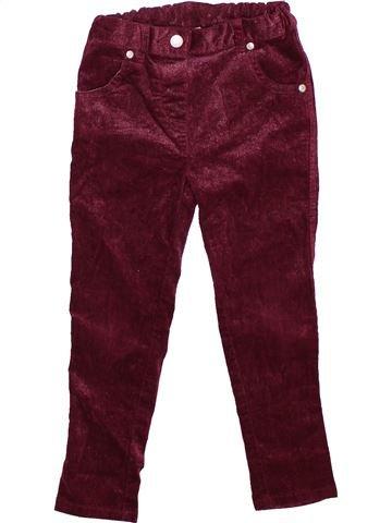 Pantalon fille TU marron 4 ans hiver #1490941_1