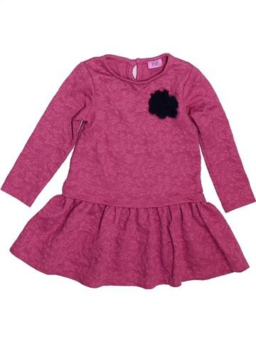 Robe fille F&F rose 2 ans hiver #1491002_1