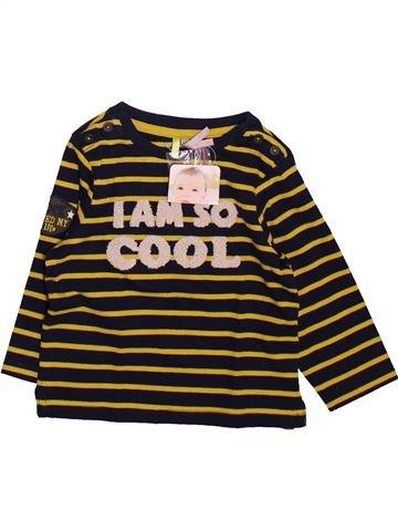 T-shirt manches longues garçon ORCHESTRA noir 12 mois hiver #1491044_1